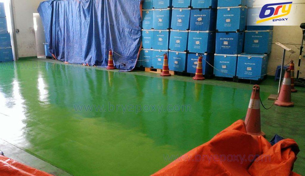 Sơn nền epoxy tại nhà máy Alpha Industry Việt Nam