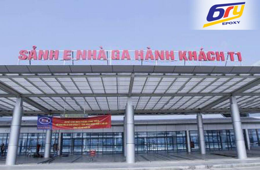 Sơn sàn epoxy và sơn kẻ vạch –  Sân bay Nội Bài