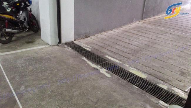 Sơn epoxy chống trơn trượt tầng tại hầm tòa nhà COALIMEX