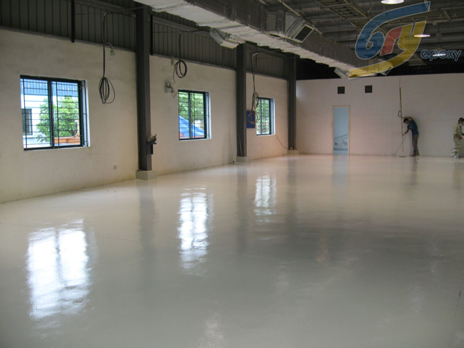 Glass epoxy paint