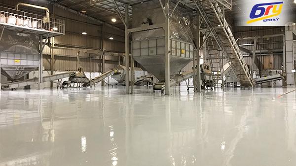 Tiếp tục thi công sơn epoxy tại nhà máy sản xuất và XNK chè tại Sóc Sơn