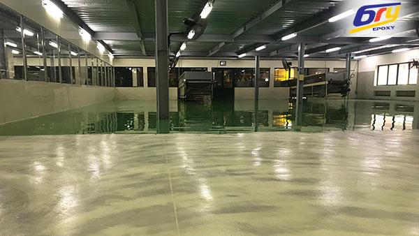 Thi công sơn sàn epoxy cho nhà máy linh kiện điện tử đặt tại KCN Khắc Niệm – Bắc Ninh