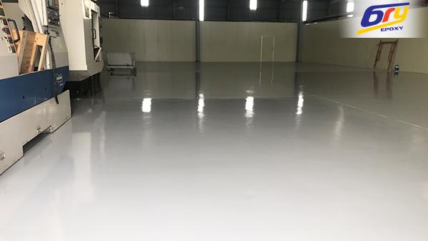 Thi công sơn epoxy nhà máy linh kiện ở Bắc Ninh