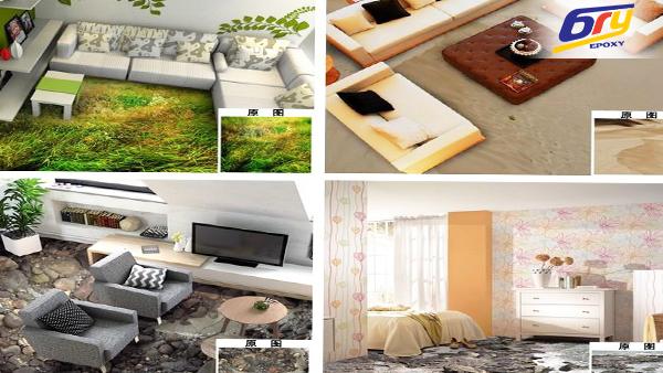 Sàn 3D bằng vật liệu epoxy cho thiết kế nội thất