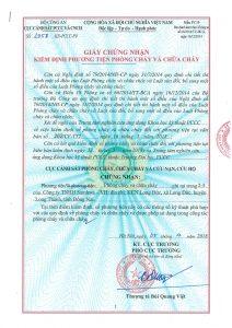 giấy chứng nhận sơn chống cháy