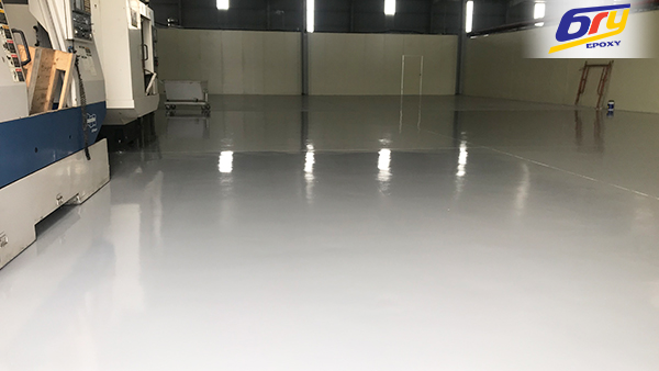 Applying epoxy for clean room, hospital