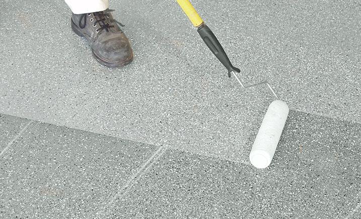 Anti-slip epoxy paint