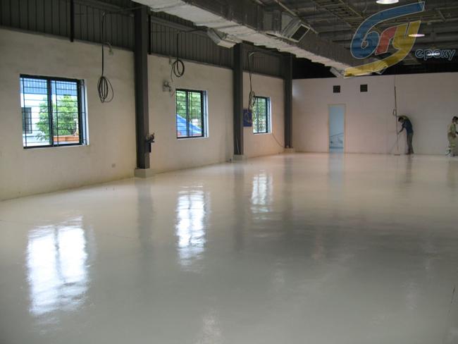 Glass epoxy paint
