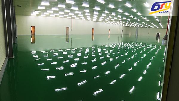 Thi công sơn epoxy tự san phẳng nhà máy gia công cơ khí tại Thái Nguyên